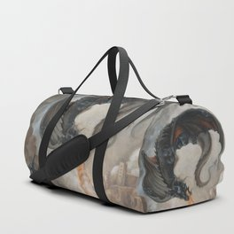 Black Battle Dragon Duffle Bag