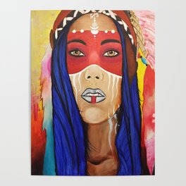 Tribal Lady Poster
