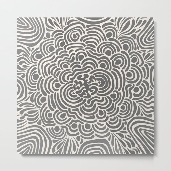 Primitive Pattern Metal Print