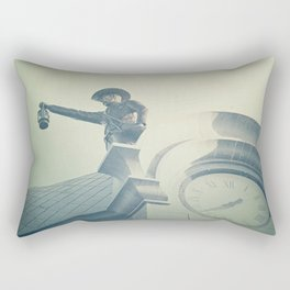 The Night Watchman Rectangular Pillow
