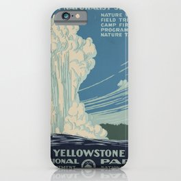 Vintage American WPA Poster - Yellowstone National Park (1938) iPhone Case