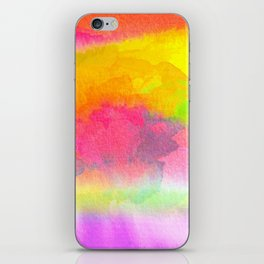 Colorful Watercolor Abstract iPhone Skin