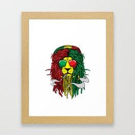 Rastafari Jamaican Lion design Gift for Reggae Music Lovers design Framed Art Print