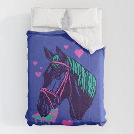 Pizza Pony Comforters