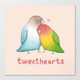 Tweethearts Canvas Print