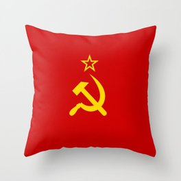 Flag of USSR Throw Pillow