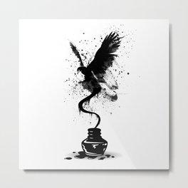 Ink Eagle Metal Print