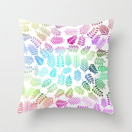 Colorful branches 3 Throw Pillow