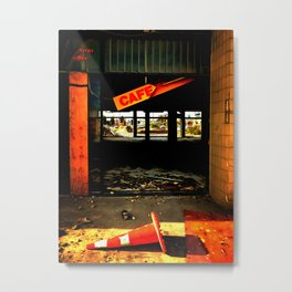 The Away Offee Cafe Metal Print