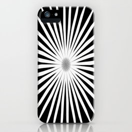 Starburst Black and White Pattern iPhone Case