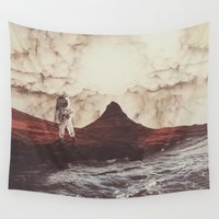 mars Wall Tapestries featuring TERRAFORMING MARS by fly fly away