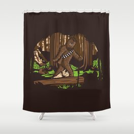 The Bigfoot of Endor Shower Curtain