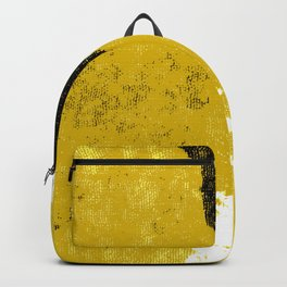 Mustard and Black Backpack