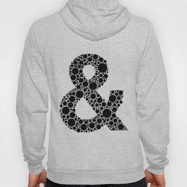 Black Ampersand Circular Mosaic Hoody