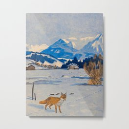 Jugend-Munich illustrated weekly for art and life - 1906 Cold Climate Snow Mountains Fox Metal Print