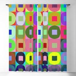 6x6 002 - abstract geometric minimalism Blackout Curtain