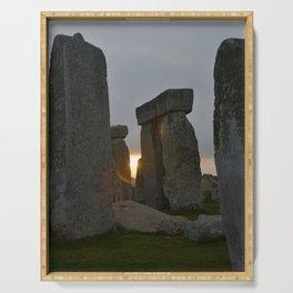 Stonehenge at sunrise Serving Tray