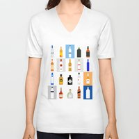 bar V-neck T-shirts featuring Open Bar by Liz Slome