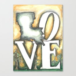 Love Louisiana Canvas Print