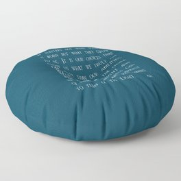 Dumbledore wise quotes Floor Pillow