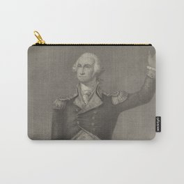 Vintage George Washington Portrait (1854) Carry-All Pouch