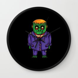Frankenstein's Monster Drawing Wall Clock