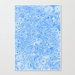 Henna Blue Canvas Print