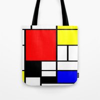 mondrian Tote Bags featuring Mondrian by Fine2art