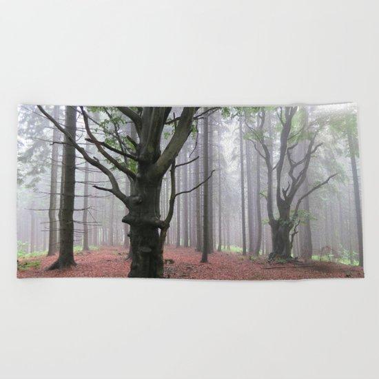 Smoke woods Beach Towel