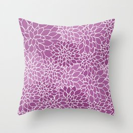 Flower Pattern Retro Style Throw Pillow