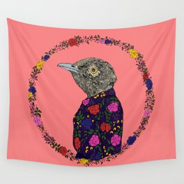 Floral Bird Wall Tapestry