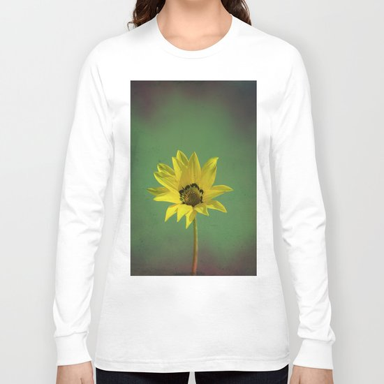 The yellow flower of my old friend Long Sleeve T-shirt