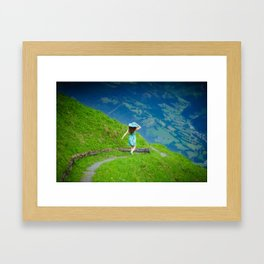 Happy moments in Austria Framed Art Print