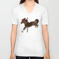 kili V-neck T-shirts featuring Kili by MarieJacquelyn