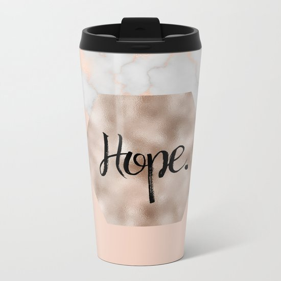 Rose gold layers - hope Metal Travel Mug