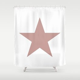 Ancient rose star on white Shower Curtain