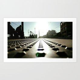 Badalona train station. Art Print