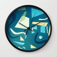 marine Wall Clocks featuring marine by Carlos Castro Perez