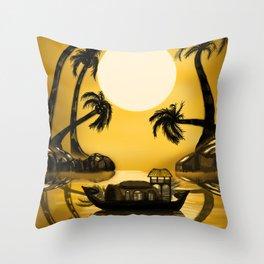 Kerala Evening Throw Pillow