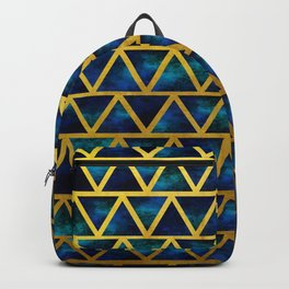 Blue and gold universe Backpack
