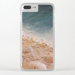 Wave Whispers (Encaustic) Clear iPhone Case