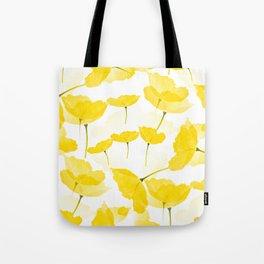 Light Yellow Poppies Spring Summer Mood #decor #society6 #buyart Tote Bag