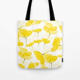 Light Yellow Poppies Spring Summer Mood #decor #society6 #buyart Tote Bag
