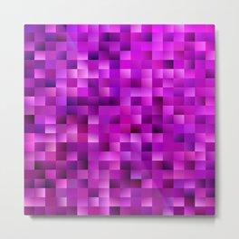 Purple rectangle pattern Metal Print