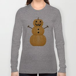Pumpkin Snowman Long Sleeve T-shirt