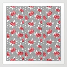 Floral Alabama pattern university of alabama crimson tide college sports bama varsity alumni Art Print