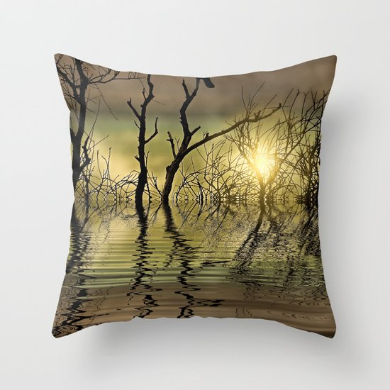 Twilight reflected Throw Pillow
