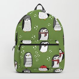 Christmas penguin cute animal pattern winter holiday gifts Backpack