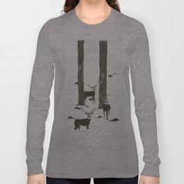 bucks in the snow Long Sleeve T-shirt