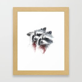 Raccoons I Framed Art Print